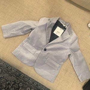 Janie and jack velvet grey blazer size 2T